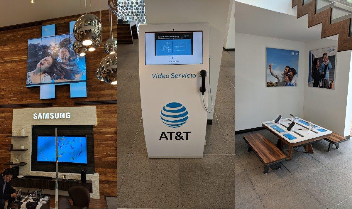 AT&T Flagship mit Samsung Installation, Video Terminal und Kids Corner (Fotos: invidis)