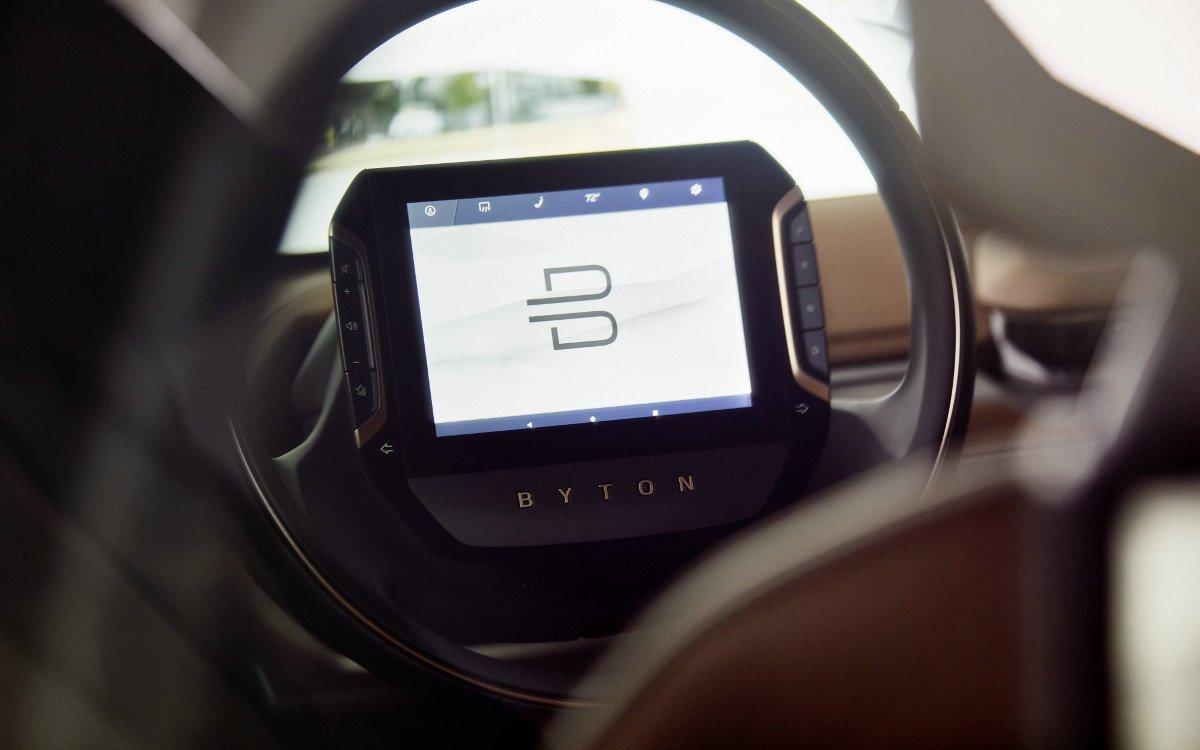 Byton Touch-Display im Lenkrad (Foto: Byton)