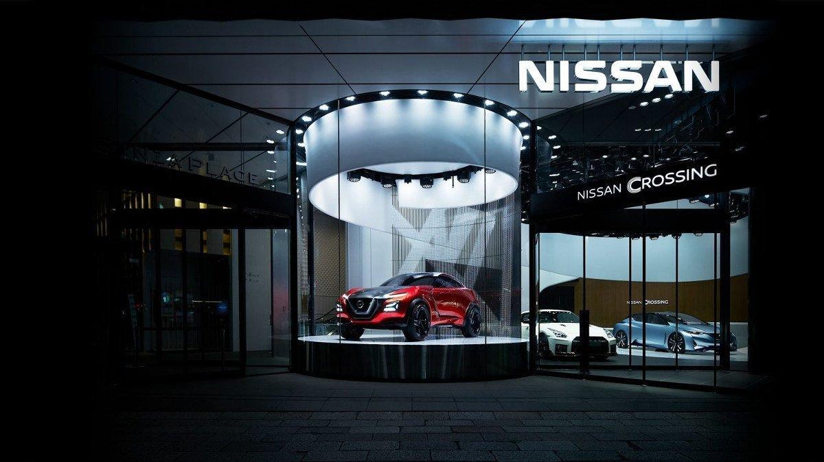 Nissan Crossing LED-Fassade in Tokio (Foto: Nissan)