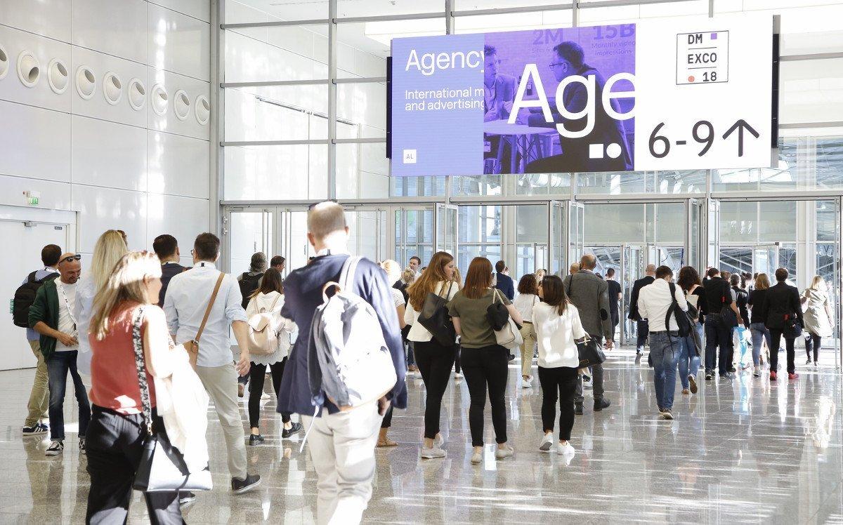 Neues Digital Signage System der Messe Köln zur DMEXCO (Foto: Messe Köln)