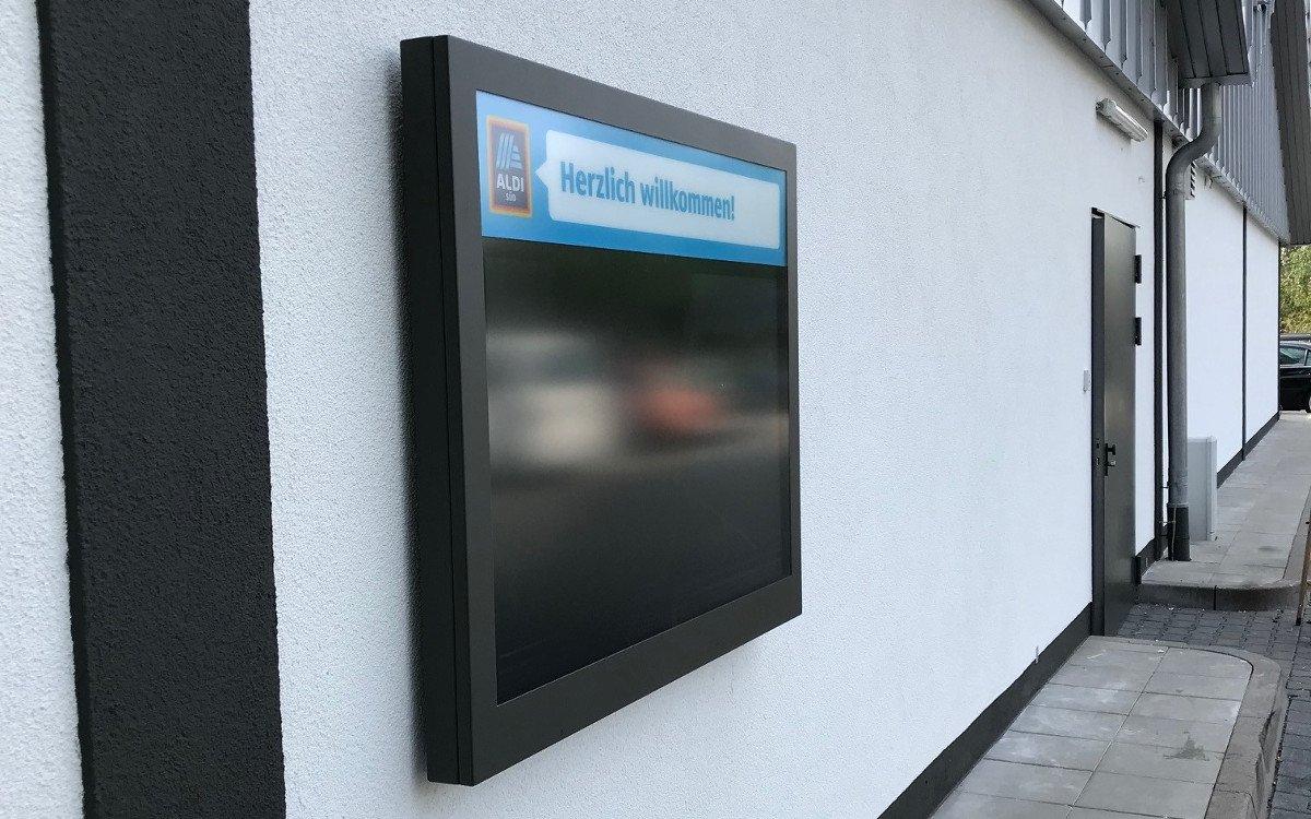 Aldi Süd Outdoor Installation (Foto: invidis Leser)
