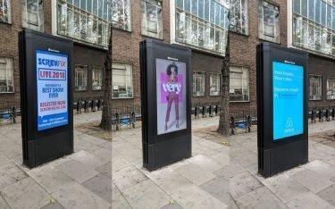 DooH Kampagnen bei Clear Channel in London (Foto: invidis)