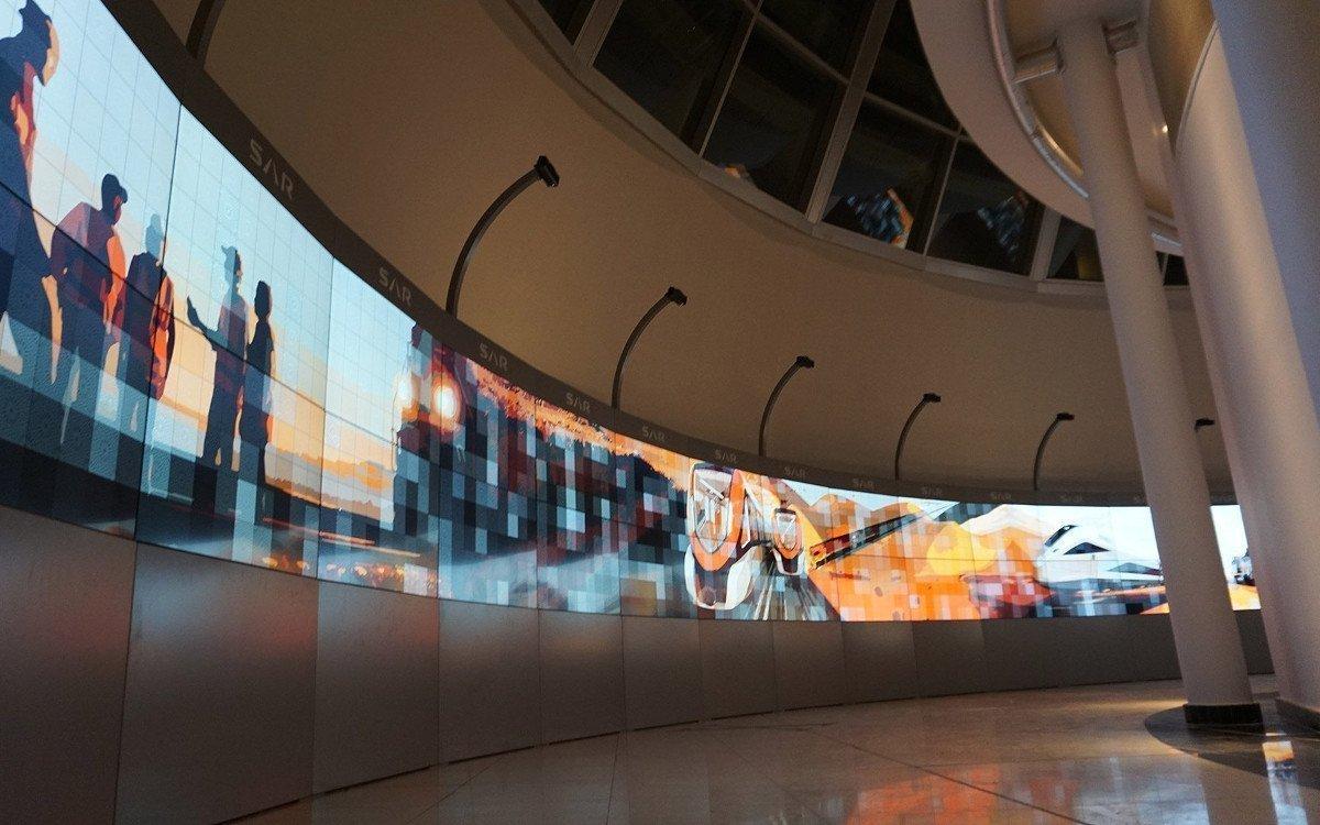Größte interaktive Videowall der Welt bei Saudi Arabia Railways (Bild: Trison)
