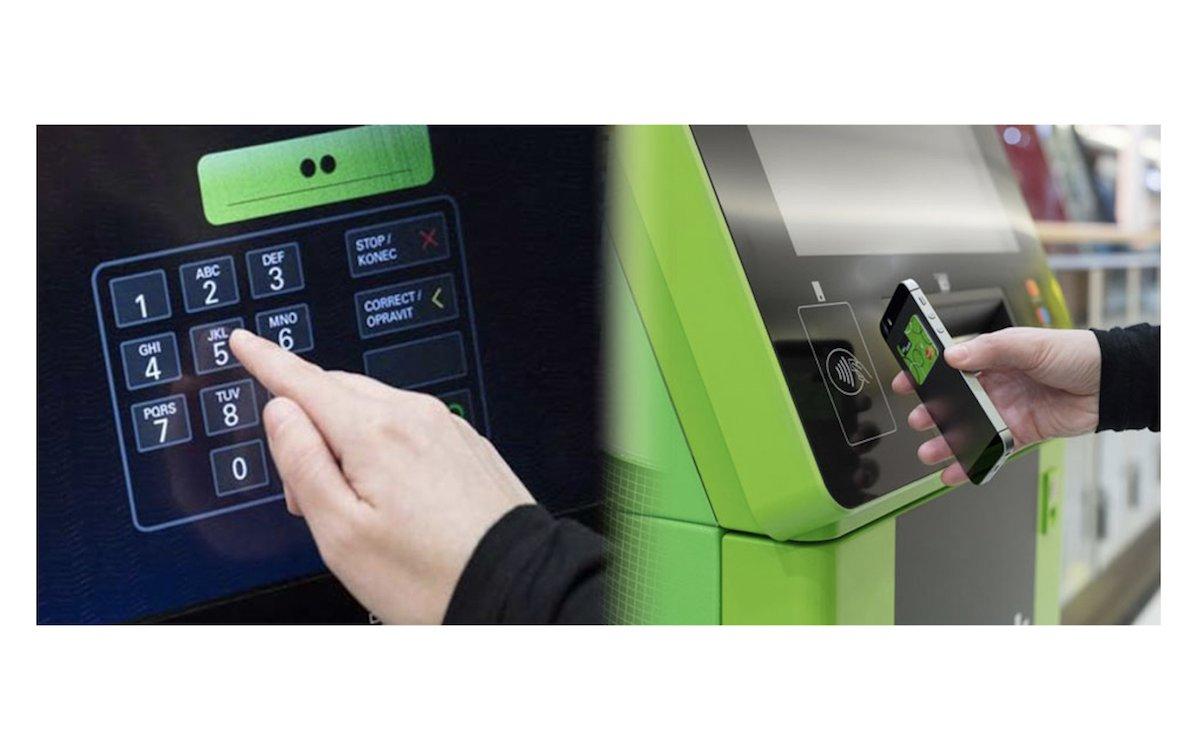 Kontaktloses Bezahlen wird auch über die grosse Touch Fläche ermöglicht (Fotos: Cryptera)