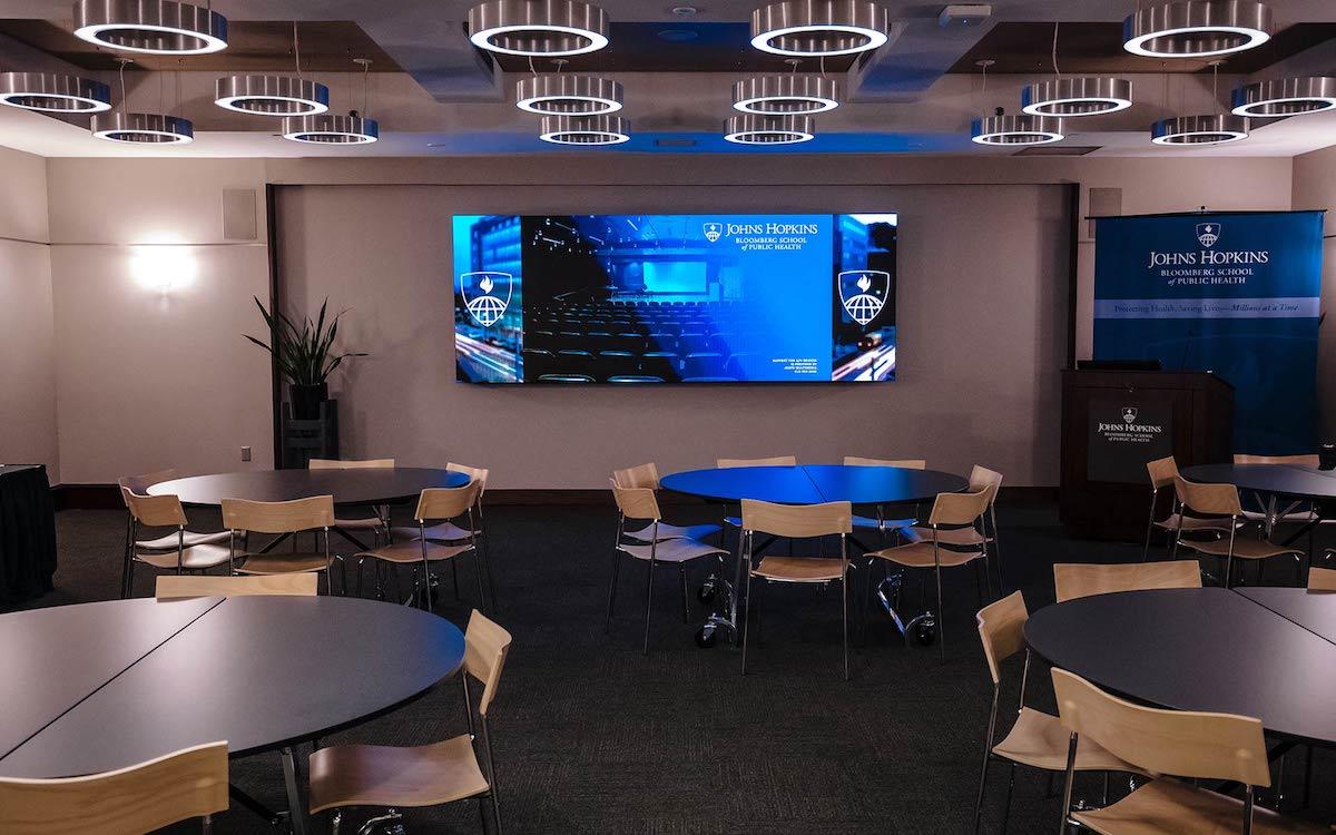 Die LED Wall verbessert die AV- und Lernerfahrungen an dem Uni-Institut (Foto: Leyard)