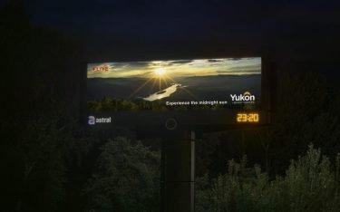 Die Mitternachtssonne wurde auf Screens in Vancouver und Umgebung live gezeigt (Foto: Cossette)