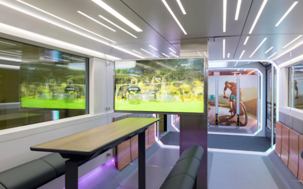 Entertainment-Bereich des Ideenzugs der DB (Foto: Deutsche Bahn)