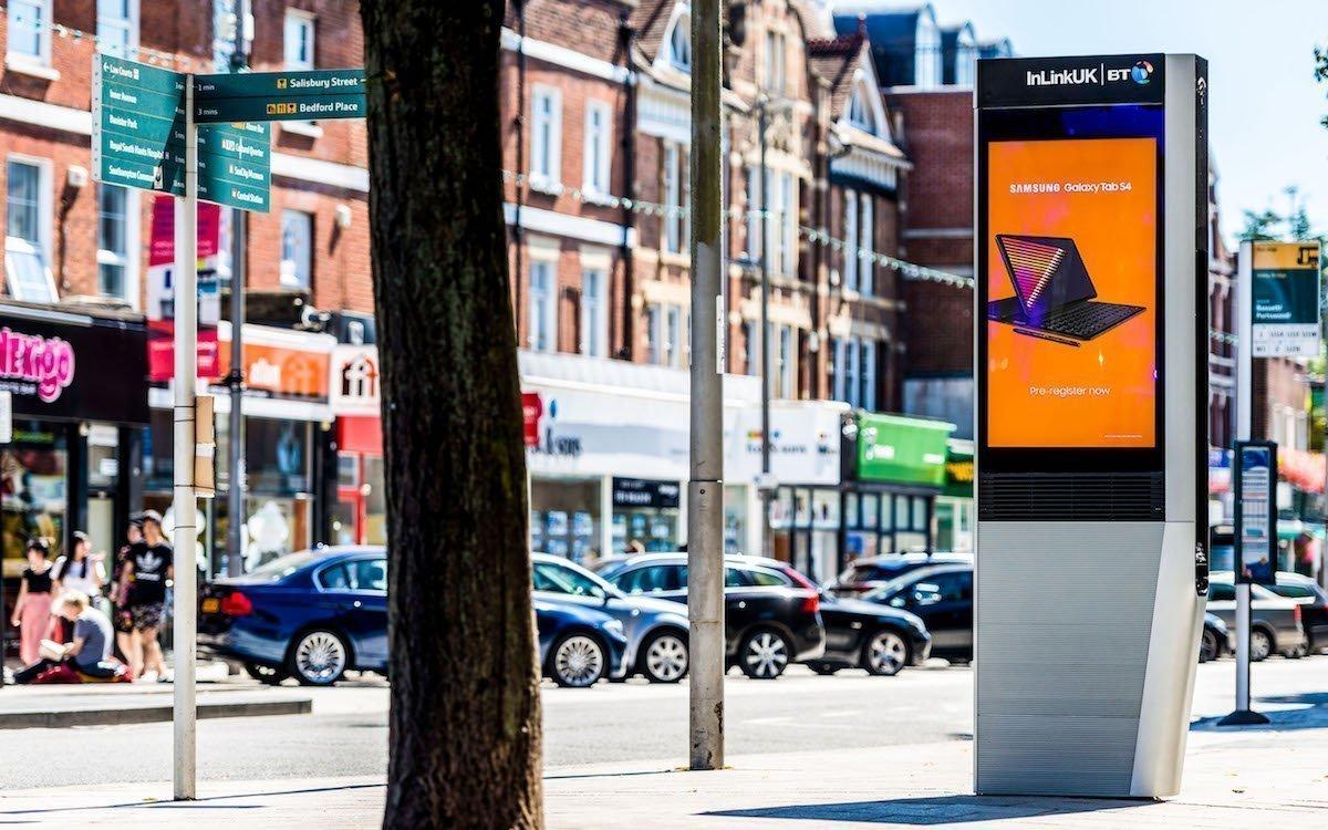InLinks UK-Screen in einer britischen Stadt (Foto: Primesight)