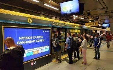 Mit dem Analysetool lassen sich Konsumenten gezielter ansprechen – hier in der U-Bahn von Sao Paulo (Foto: ViaQuatro)