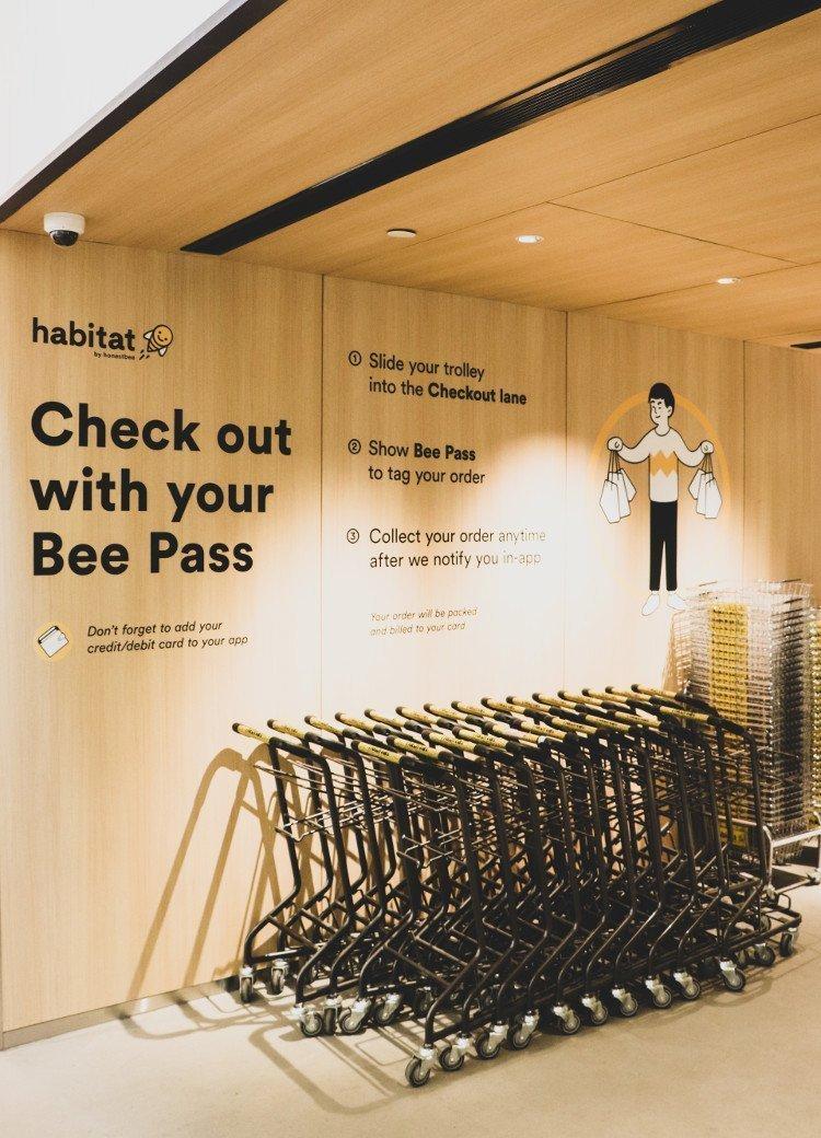 Eingang von Habitat by Honestbee (Foto: Honestbee)