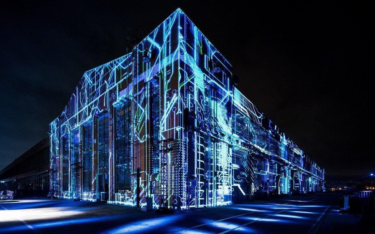 Prpjection Mapping - hier beim Launch des Audi etron (Foto: Audi)