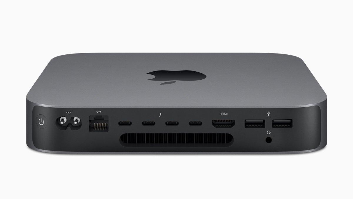 Bei den Anschlüssen und dem Innenleben ist der Mac Mini alles andere als mini (Foto: Apple)