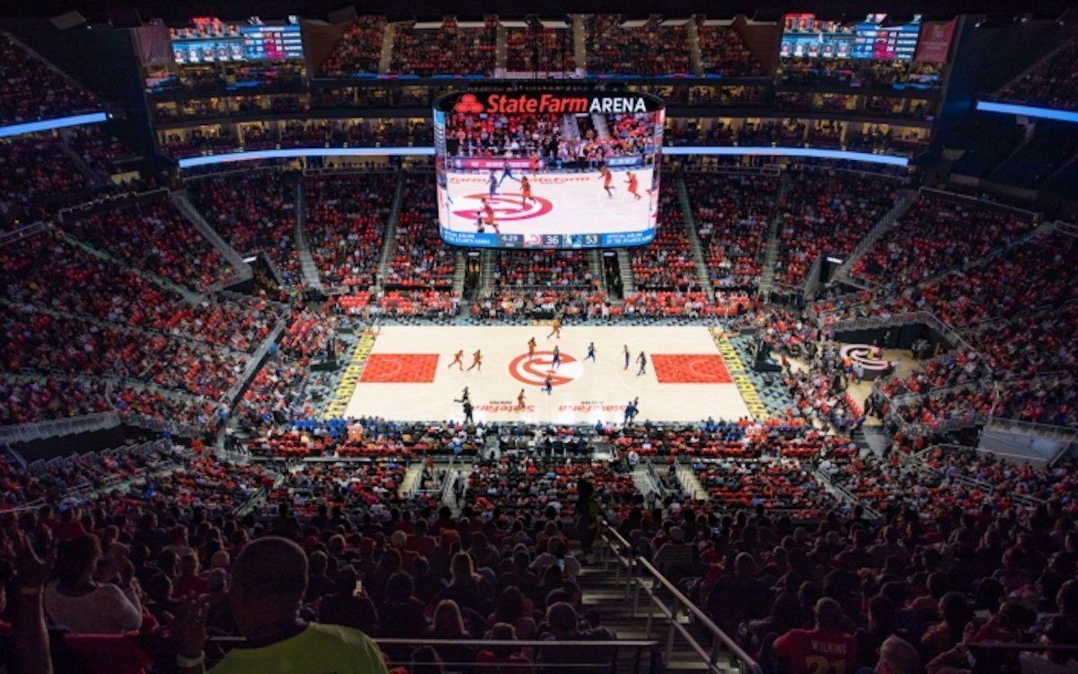 Die Atlanta Hawks spielen im Stadion mit dem größten 360-Grad-Screen ihrer Liga (Foto: Samsung)