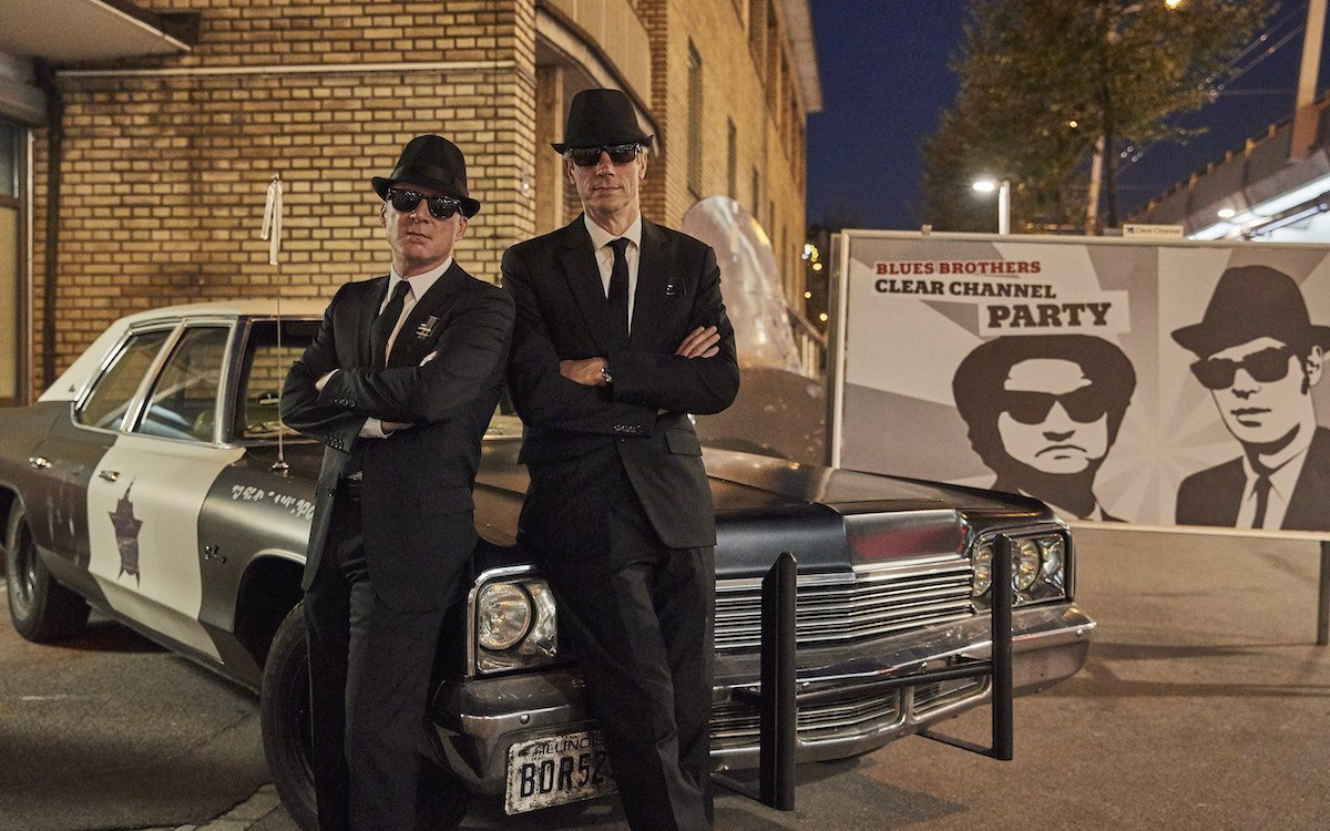 "Die Party von Clear Channel stand unter dem Motto ""Blues Brothers"" (Foto: Clear Channel)"