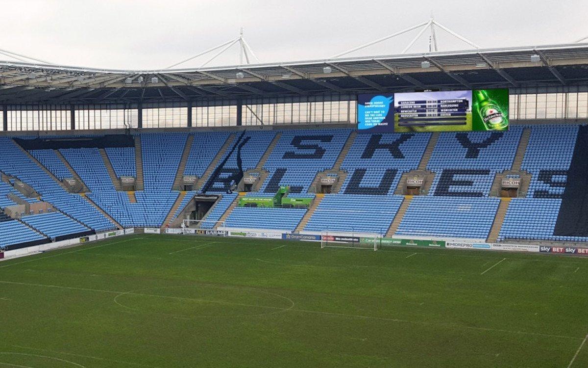Die Ricoh Arena investierte in neue LED-Technologie für alle Bereiche des Stadions (Foto: ADI)