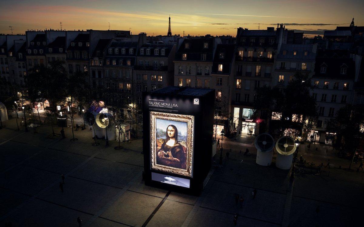 Die sprechende Mona Lisa zeigt Herz (Foto: BMW)