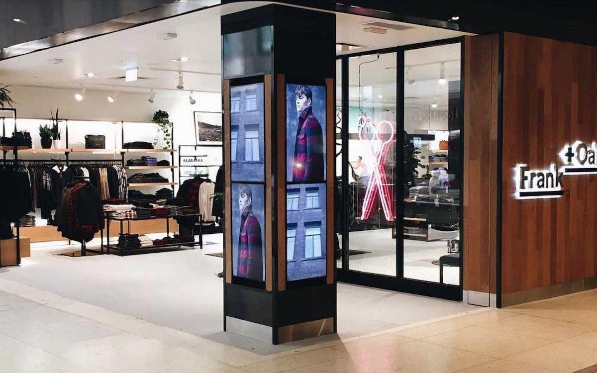 Stingray Digital zeichnete auch verantwortlich für das Digital Signage bei Retailer Frank and Oak (Foto: Stingray Digital)