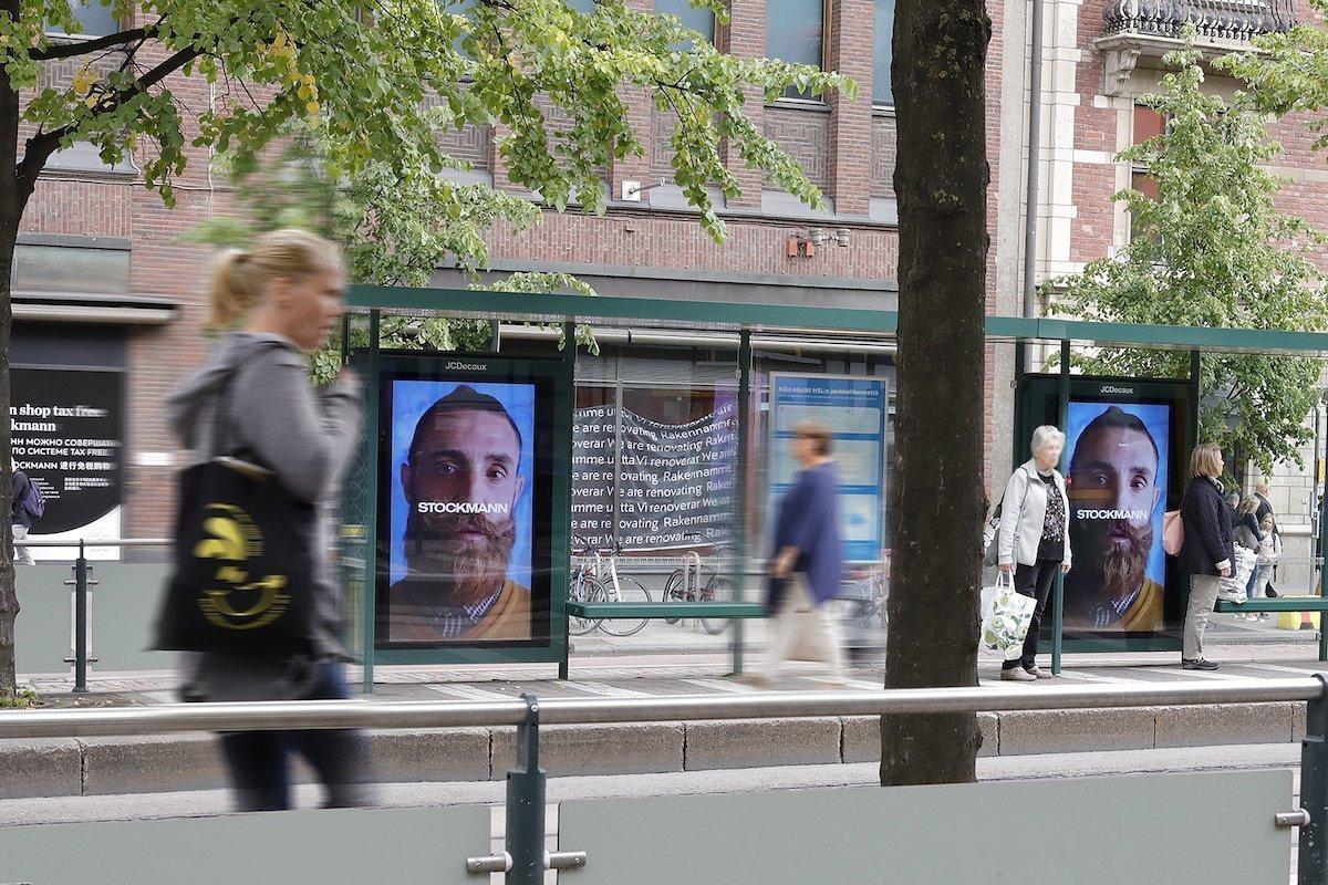 Haltestelle mit neuen Large Format Displays in Helsinki (Foto: JCDecaux)