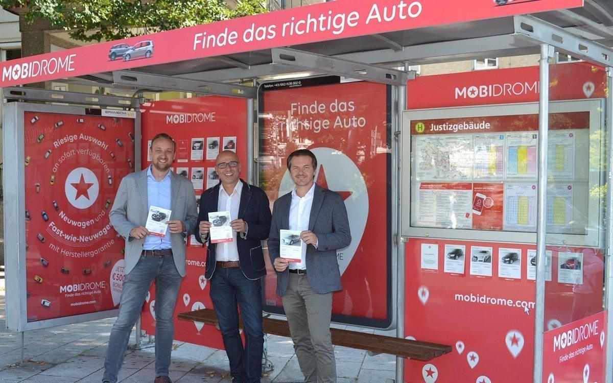 Mobidrome ließ zwei Haltestellen in Salzburg zu Pop-ups umbauen (Foto: Epamedia)