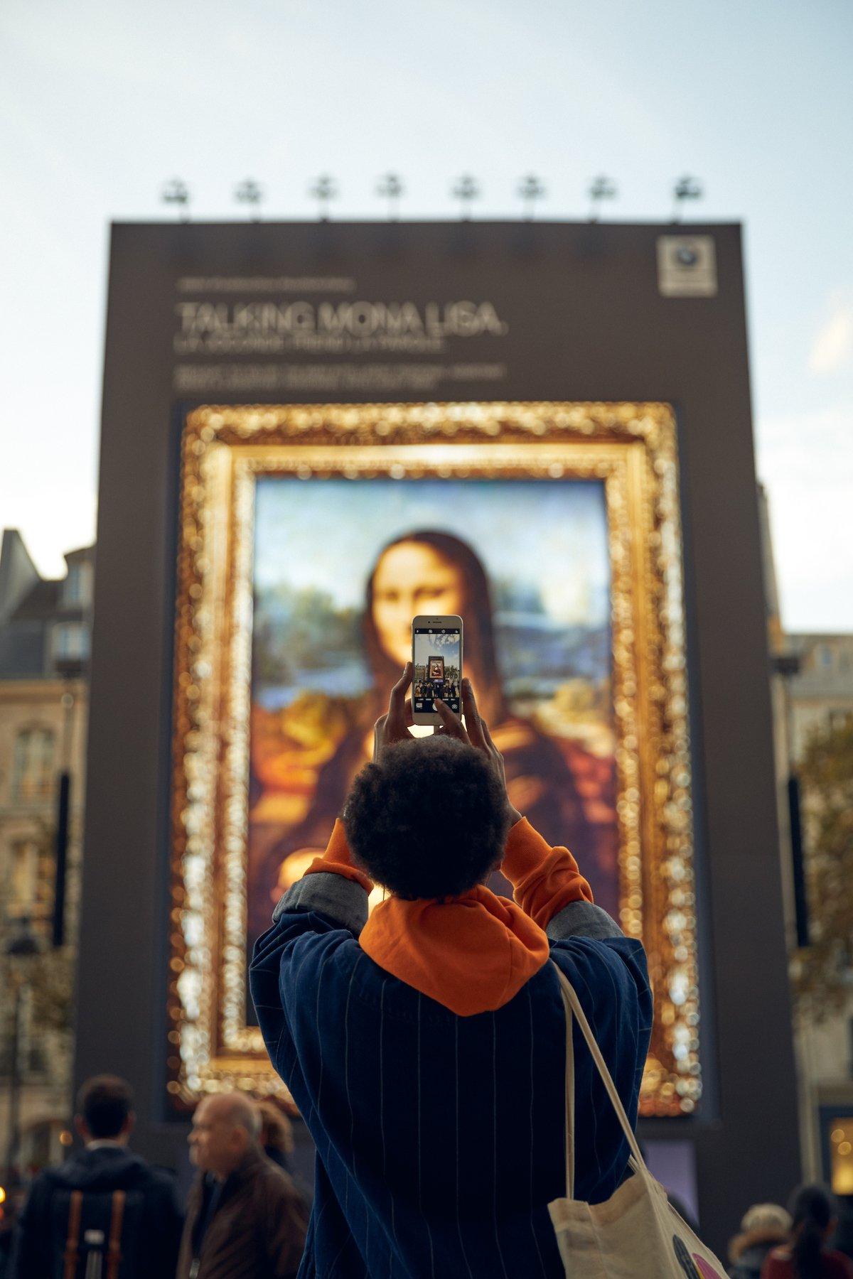 Mona Lisa: so schön wie eh und je, bloß um einiges größer (Foto: BMW)