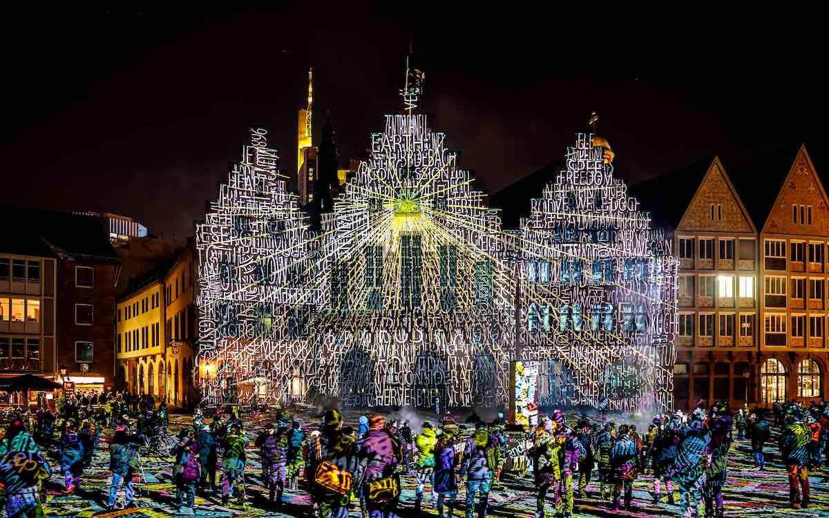 Philipp Geis zeigte in Vorarlberg ebenfalls eigene Arbeiten, hier Frankfurt Fades, 2018 (Foto Frank Baudy)