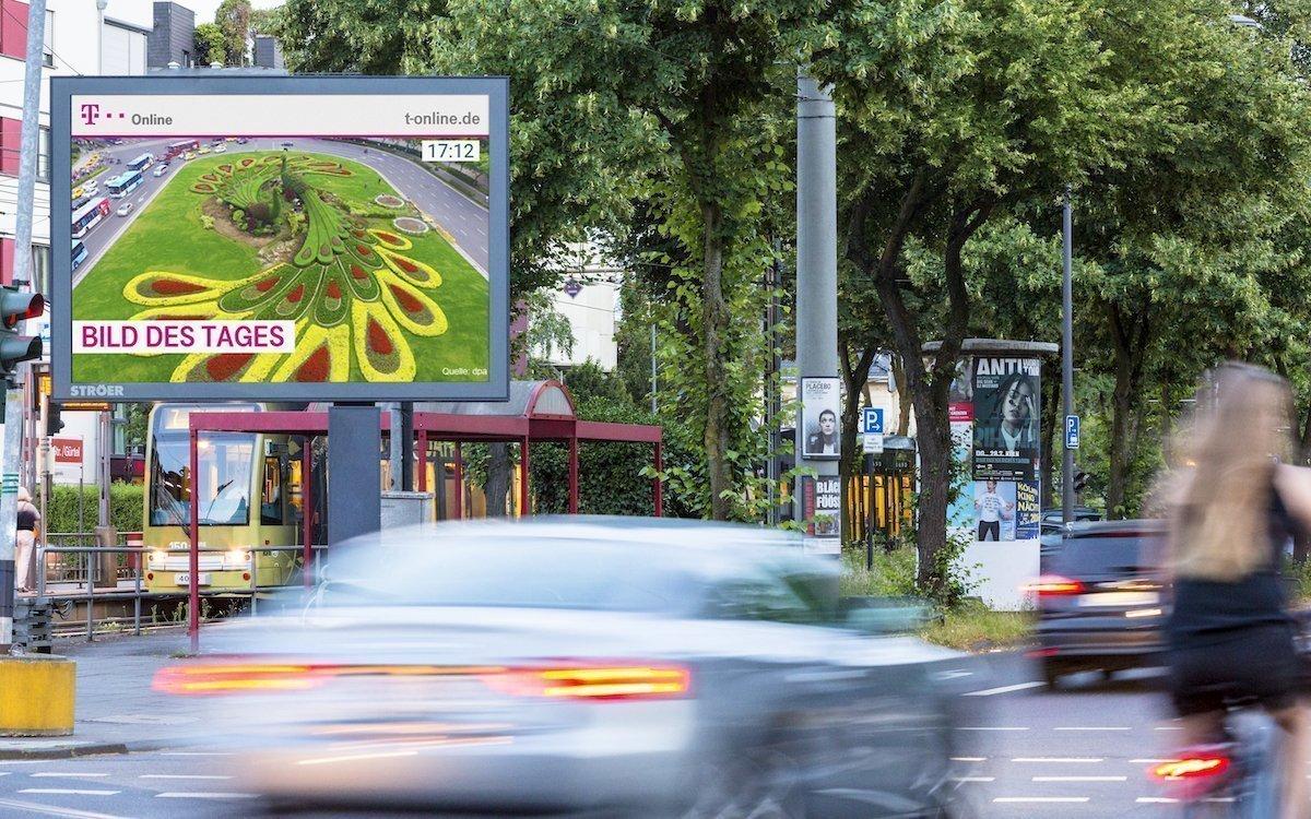 Roadside Screen von Ströer in Köln, Symbolbild (Foto: Ströer)