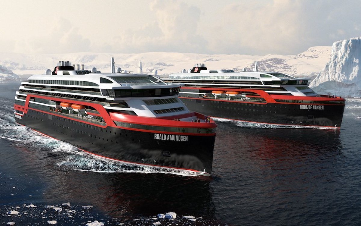 Schiffe der Hurtigruten-Flotte (Foto: Hurtigruten)