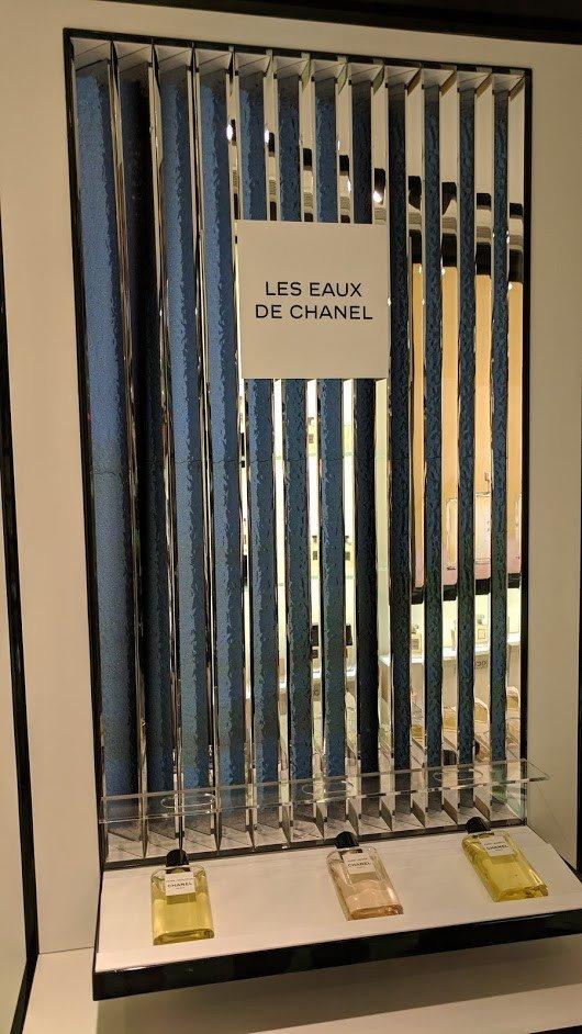 Fast Baugleich - Chanel Beaute Digital Signage bei DFS in Hongkong (Foto: invidis)