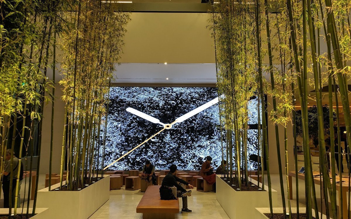 Das Digital Signage Highlight - MicroLED im Apple Cotai Central (Foto: invidis)