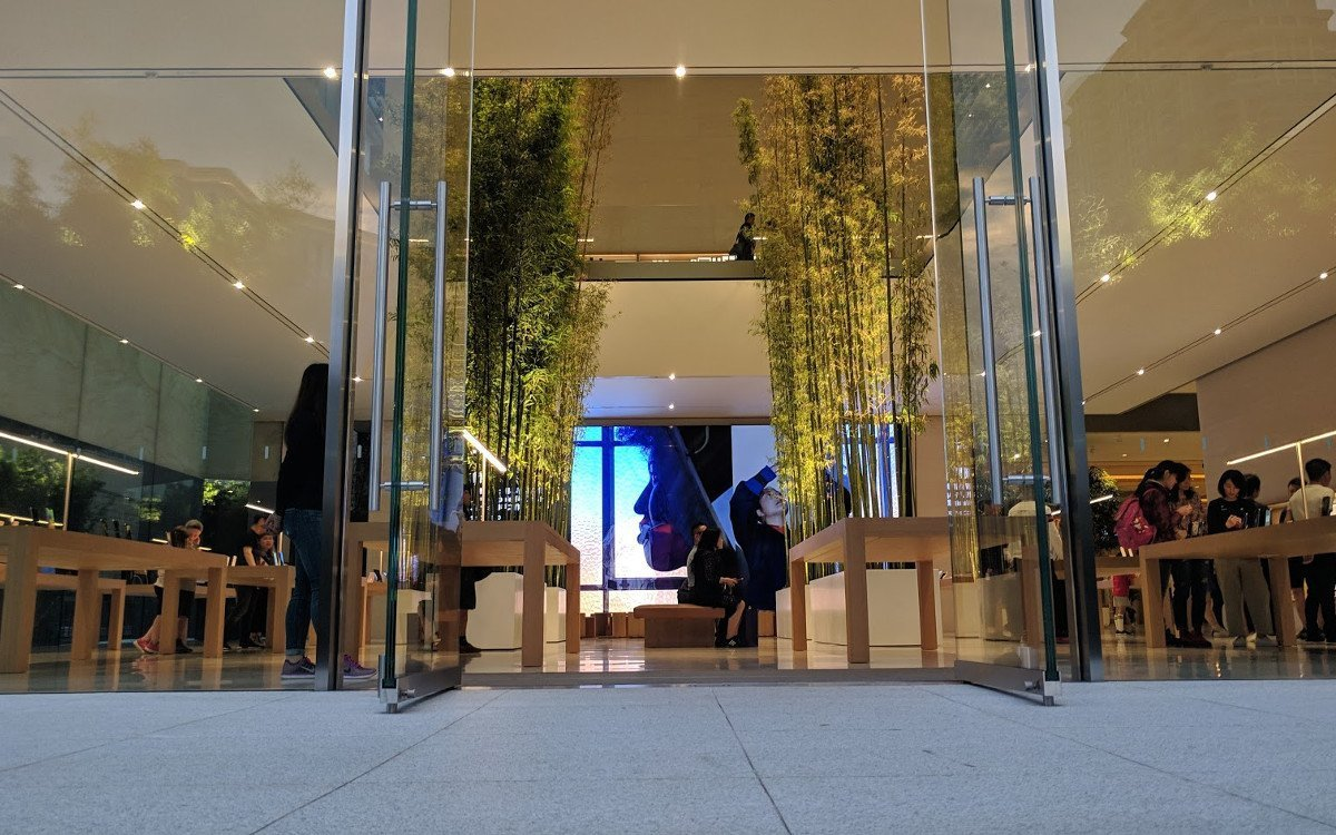 Apple beherrscht Storytelling - MicroLED im Apple Cotai Central (Foto: invidis)