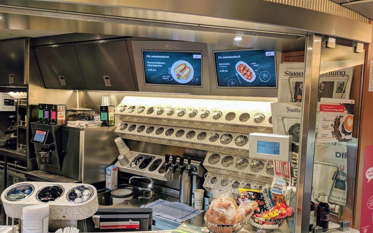 Besser Essen mit Digital im ICE Restaurant (Foto: invidis)