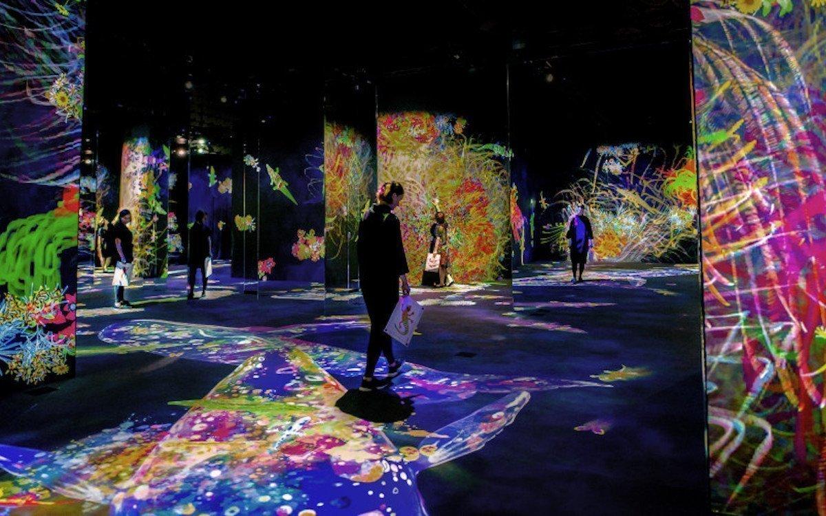 Allein für die Kunstinstallation sind 118 der 135 Projektoren im Einsatz (Foto: Epson)