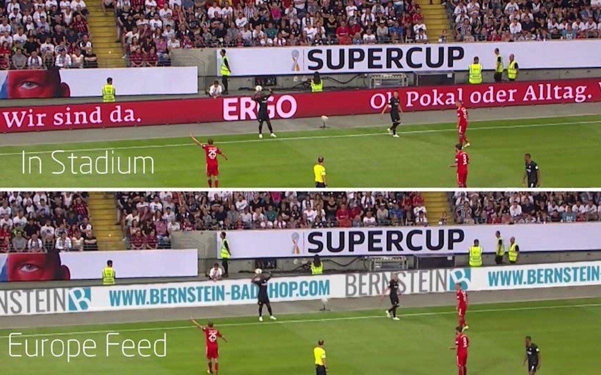Beim Supercup wurden in Deutschland erstmals virtuelle Banden eingesetzt (Foto: Supponor)