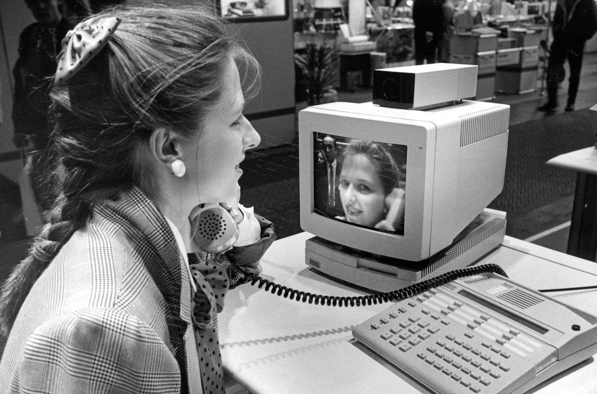 """Das Face Time des Jahres 1988 hieß """"Bildtelefon"""" (Foto: Deutsche Messe AG)"""
