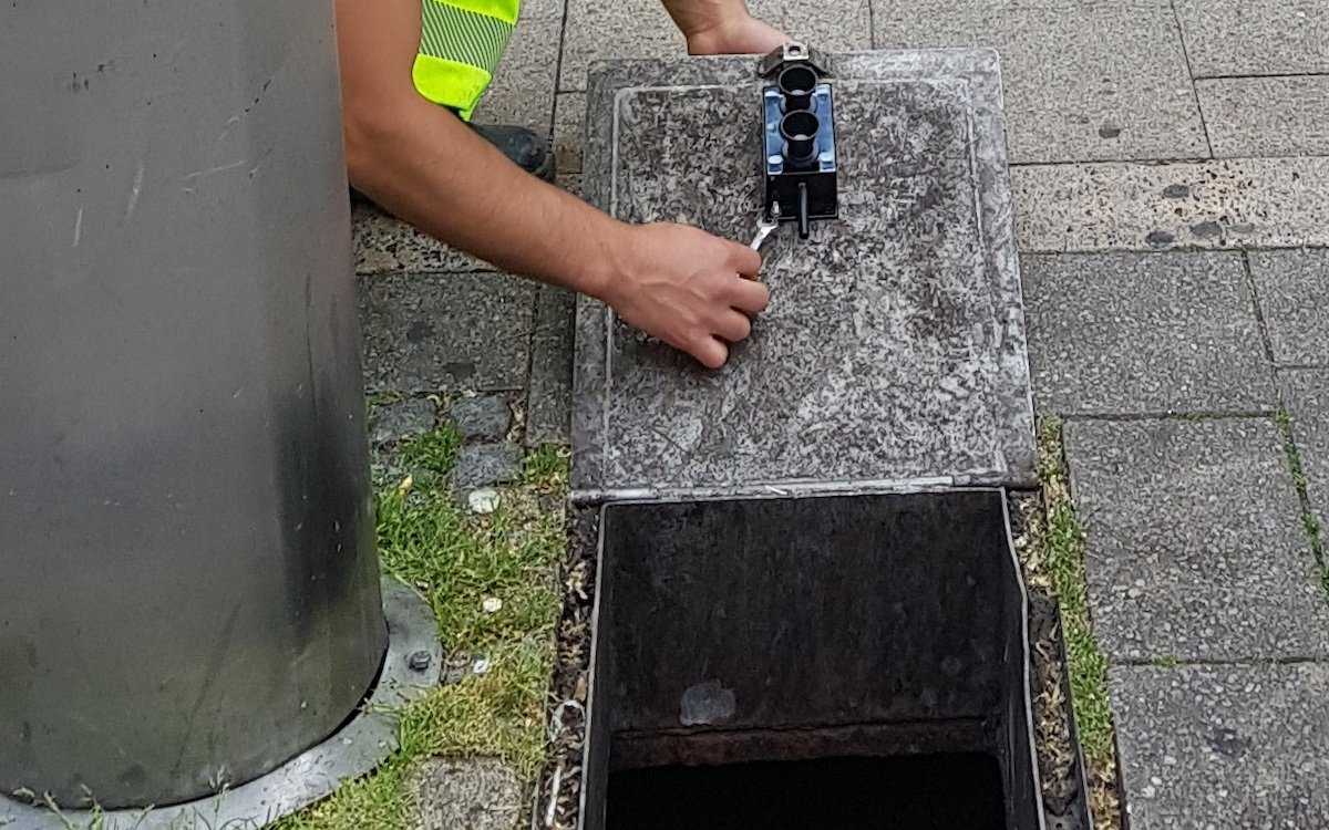 Intelligenter Mülleimer in Ludwigsburg (Foto: Stadt Ludwigsburg)
