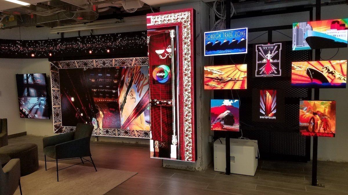Klein aber sehr durchdacht der Showroom von SNA Displays in New York (Foto: SNA Displays)