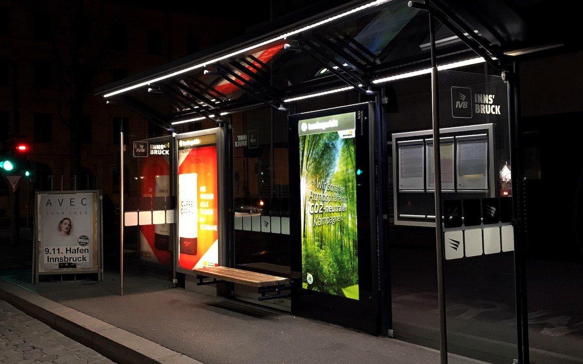 Mit einem 75-Zöller startet Innsbruck in die Digitale Außenwerbung (Foto: Epamedia)
