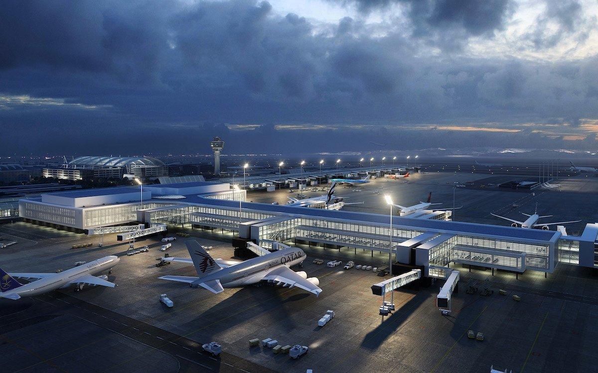 Die Visualisierung zeigt, wie Münchens Flugsteig T1 aussehen wird (Foto: FMG)