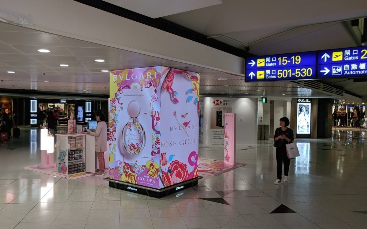Auch am Flughafen in Hongkong setzt JC Decaux auf LED (Foto: invidis)