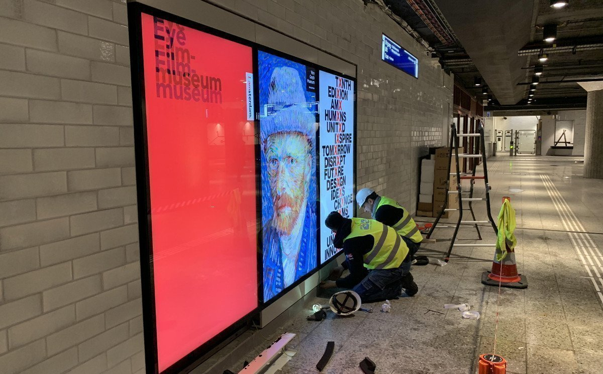 DooH in der Metro Amsterdam (Foto: CS Digital Media)