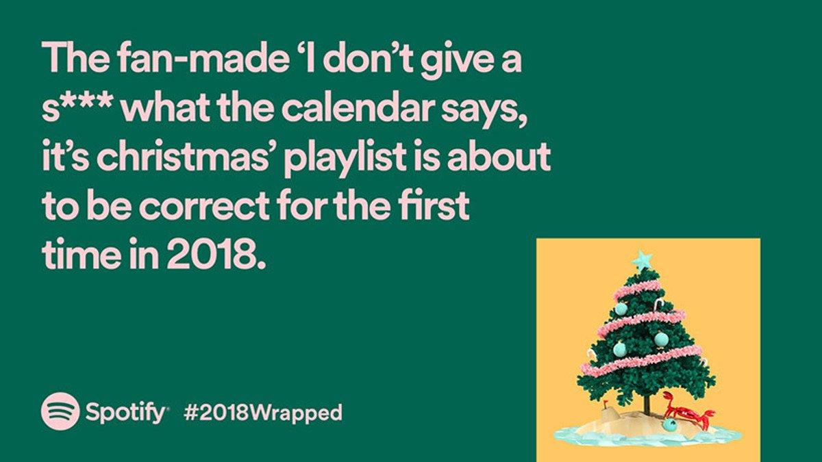 Spotify 2018Wrapped Kampagne (Foto: Spotify)
