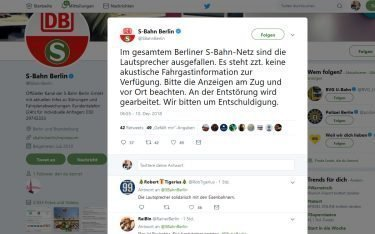 S-Bahn Berlin stellt auf Stumm (Foto: Screenshot)