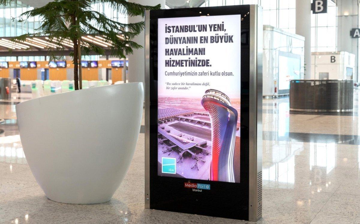 DooH am Flughafen Istanbul (Foto: Samsung)