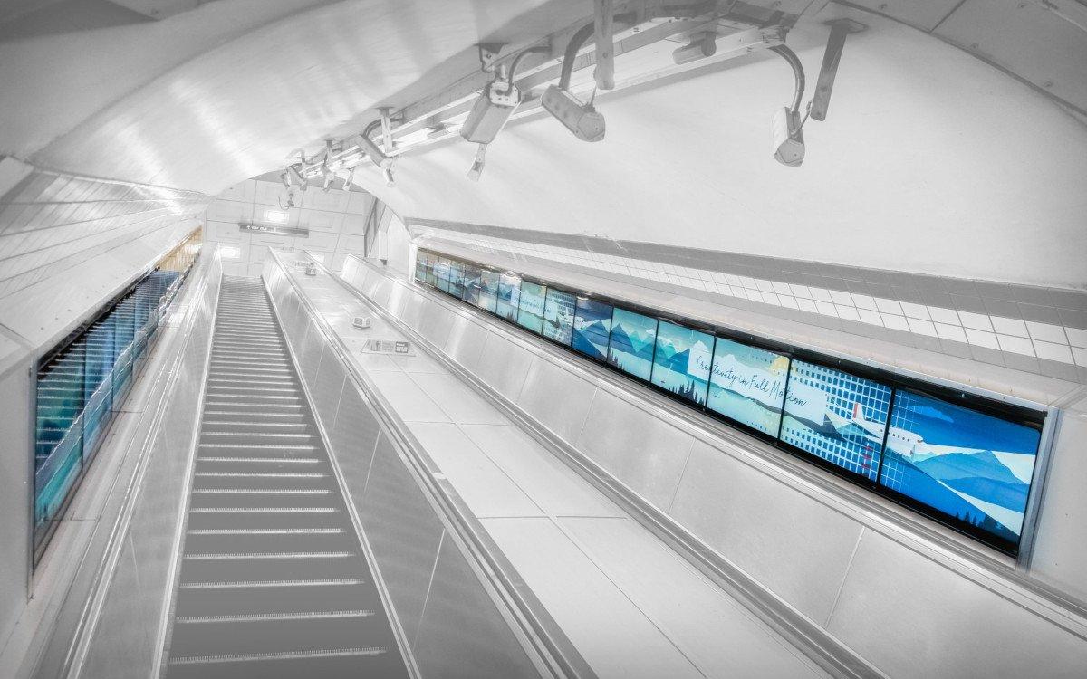 Digital Ribbon von Exterion in London (Foto: Exterion)