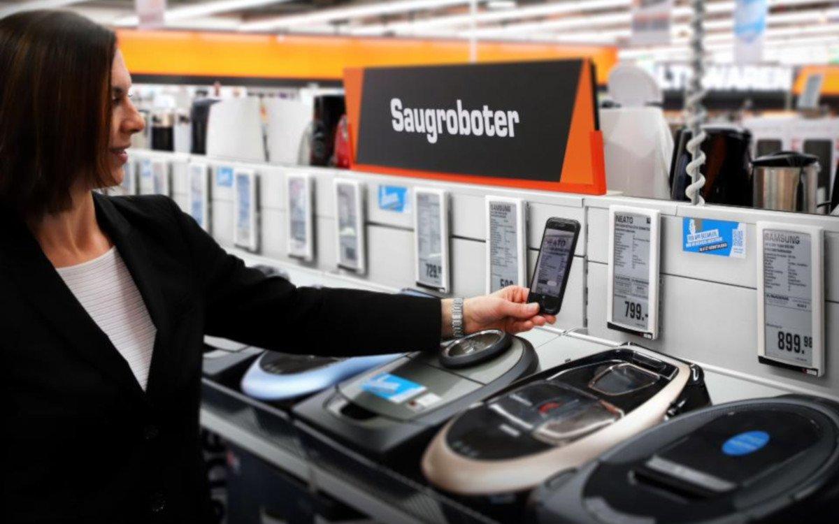 Saturn SmartPay per Scan oder ESL RFID (Foto: Saturn)