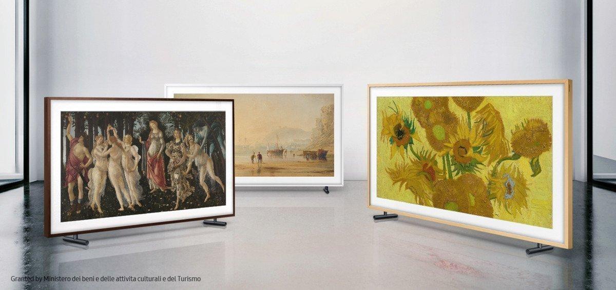 The Frame bringt Boticelli, Anthony Copley Fielding und Van Gogh ins Wohnzimmer (Foto: Samsung)