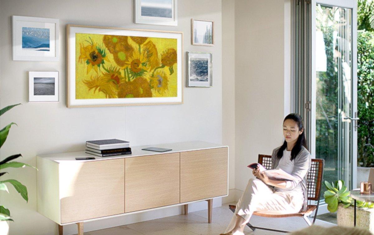 The Frame bringt Van Gogh ins Wohnzimmer (Foto: Samsung)