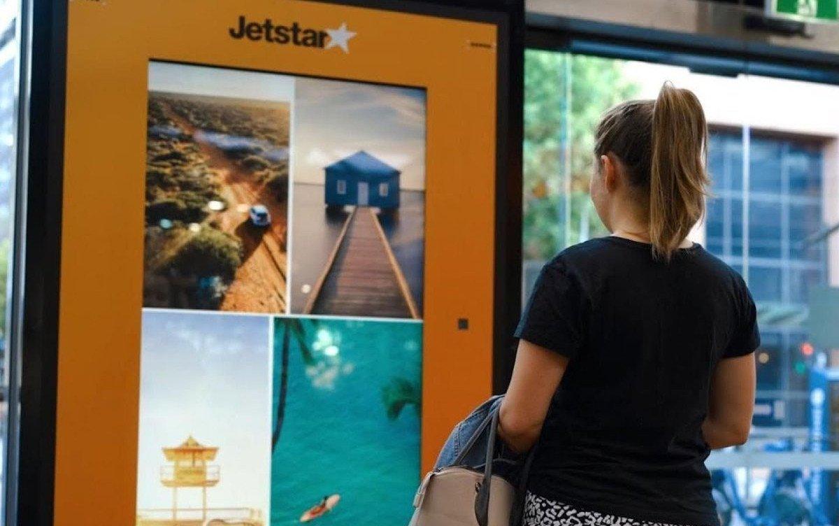 Jetstar Eye-Tracking Kampagne mit JC Decaux (Foto: JC Decaux)