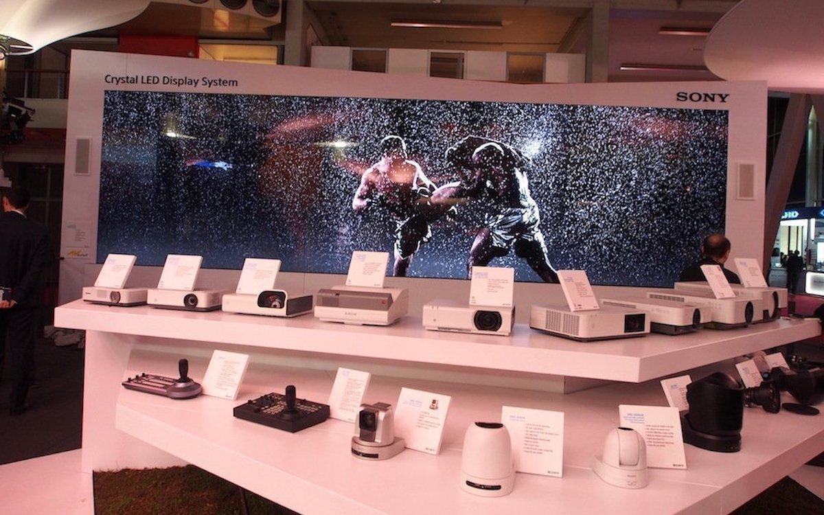 Crystal LED Wall auf der ISE 2018 (Foto: invidis)