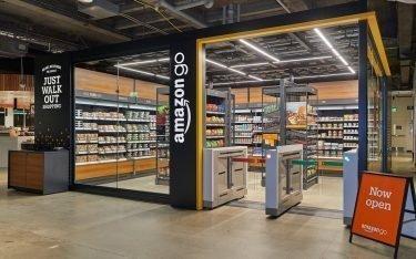 Der bislang kleinste Amazon Go Store der Welt (Foto: Amazon)